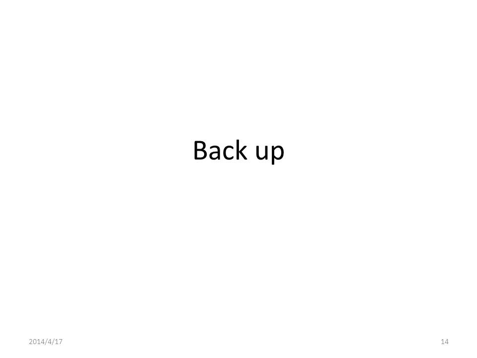 Back up 2014/4/1714