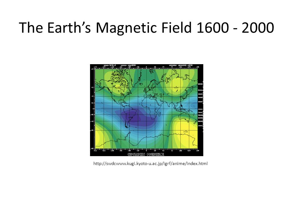 The Earth's Magnetic Field 1600 - 2000 http://swdcwww.kugi.kyoto-u.ac.jp/igrf/anime/index.html