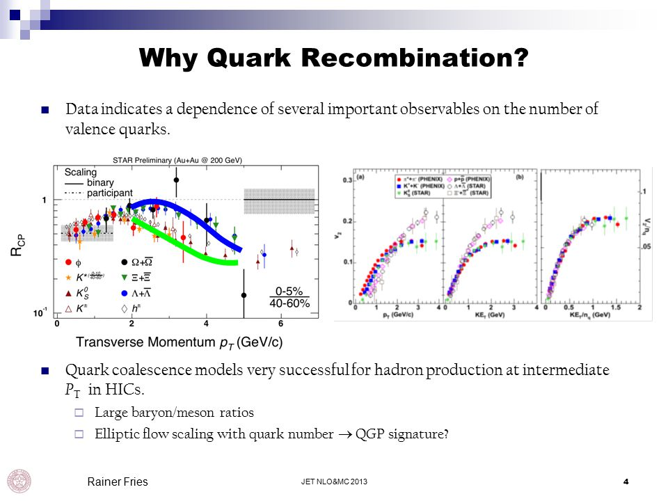 Why Quark Recombination.