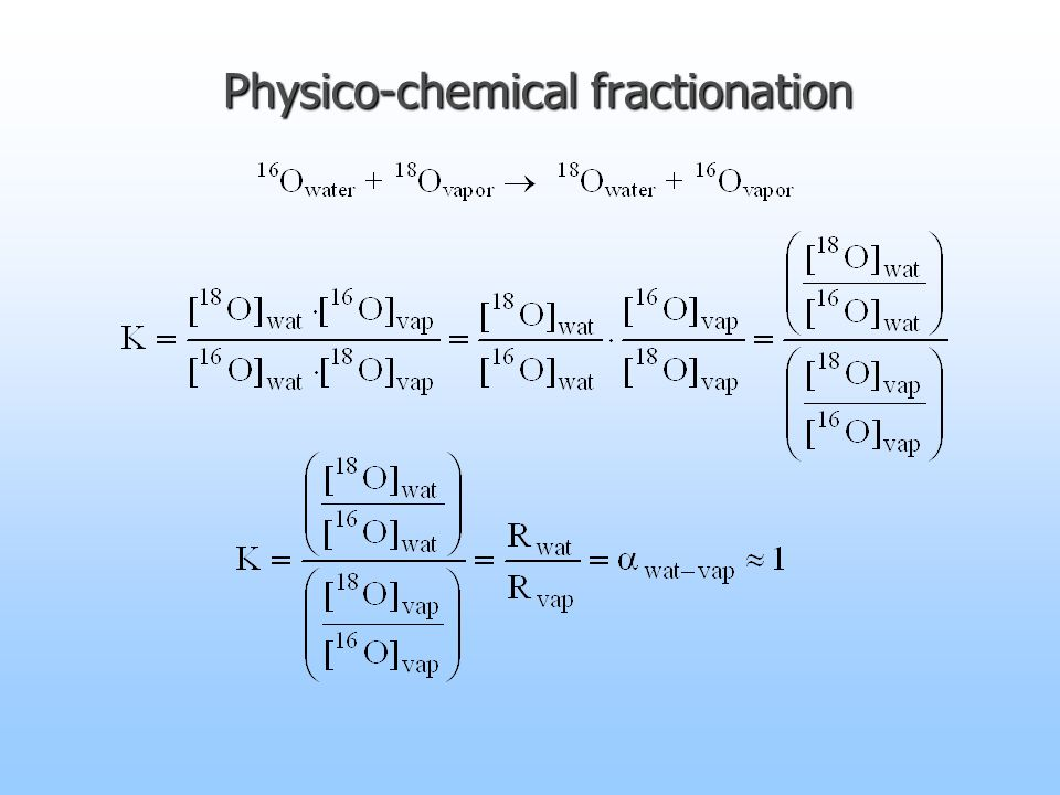 Physico-chemical fractionation