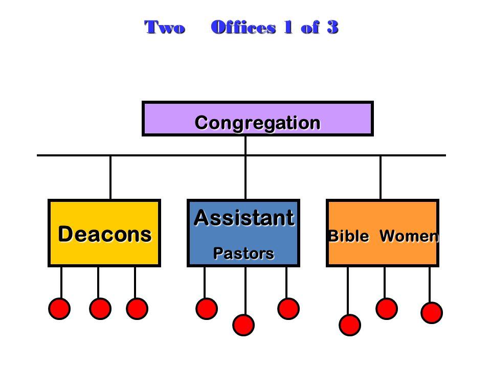 Congregation AssistantPastorsDeacons Bible Women Two Offices 1 of 3