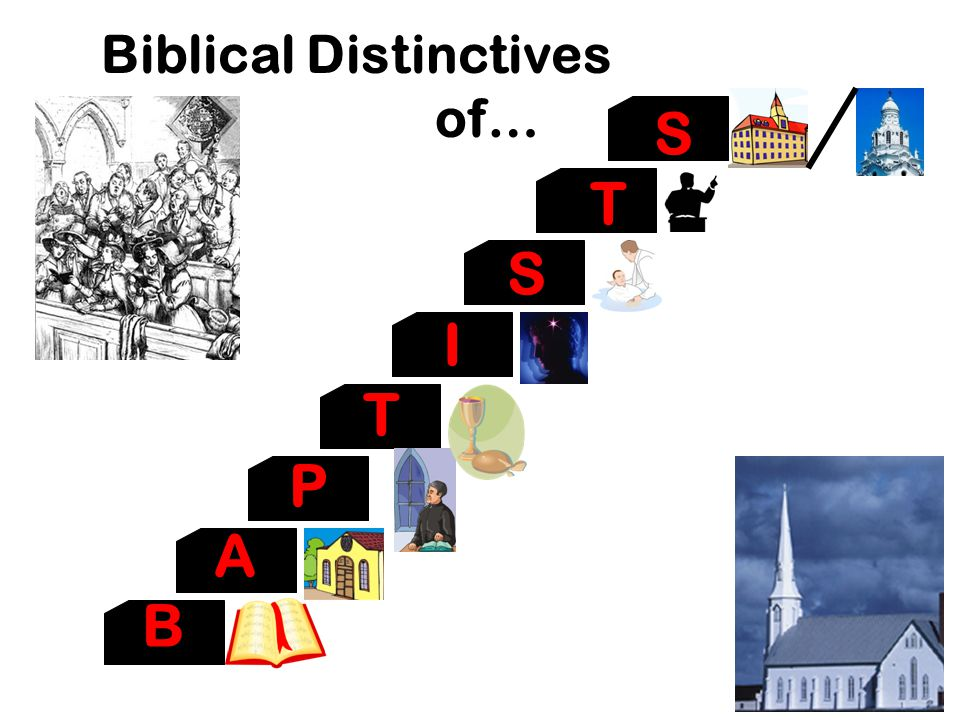 Biblical Distinctives Biblical Distinctives of… of… S T S I T P A B