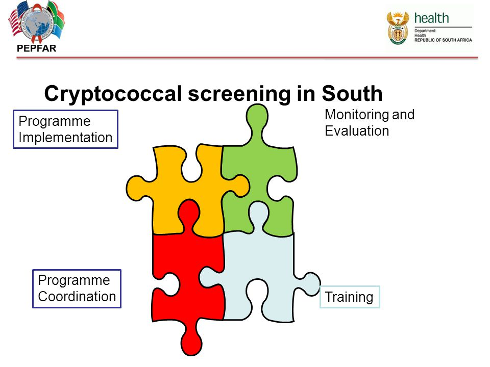 Cryptococcal screening in South Africa Monitoring and Evaluation Training Programme Implementation Programme Coordination