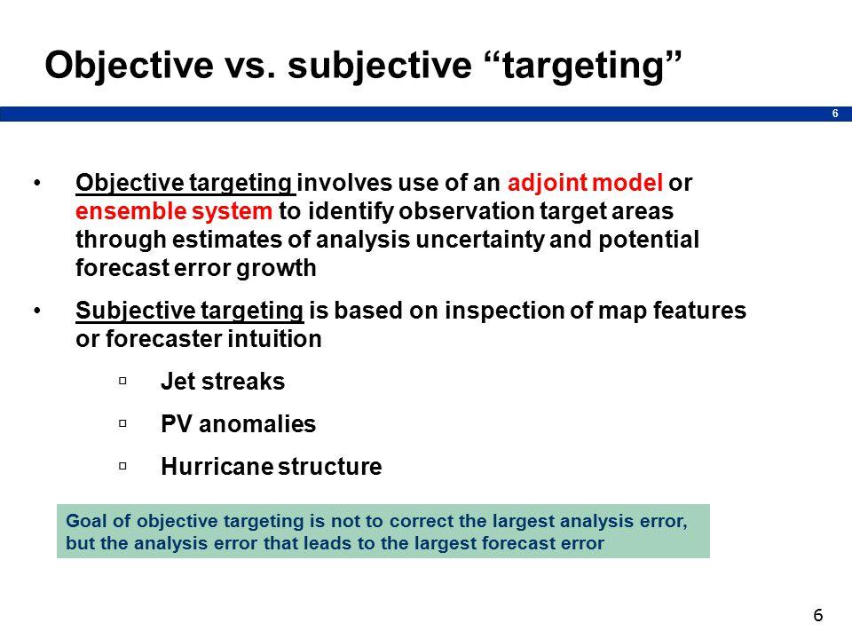 6 6 Objective vs.
