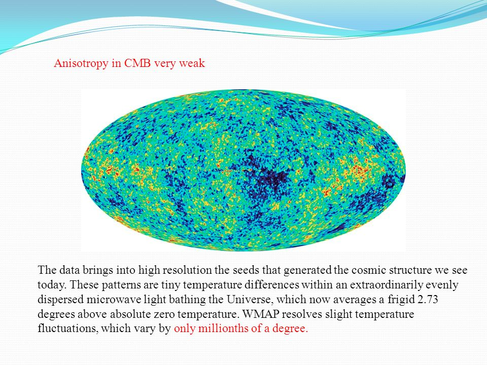 The data brings into high resolution the seeds that generated the cosmic structure we see today.
