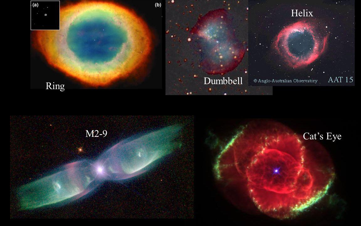Hydrogen Helium Carbon/Oxygen Asymptotic Giant Ultraviolet Planetary Nebula White Dwarf