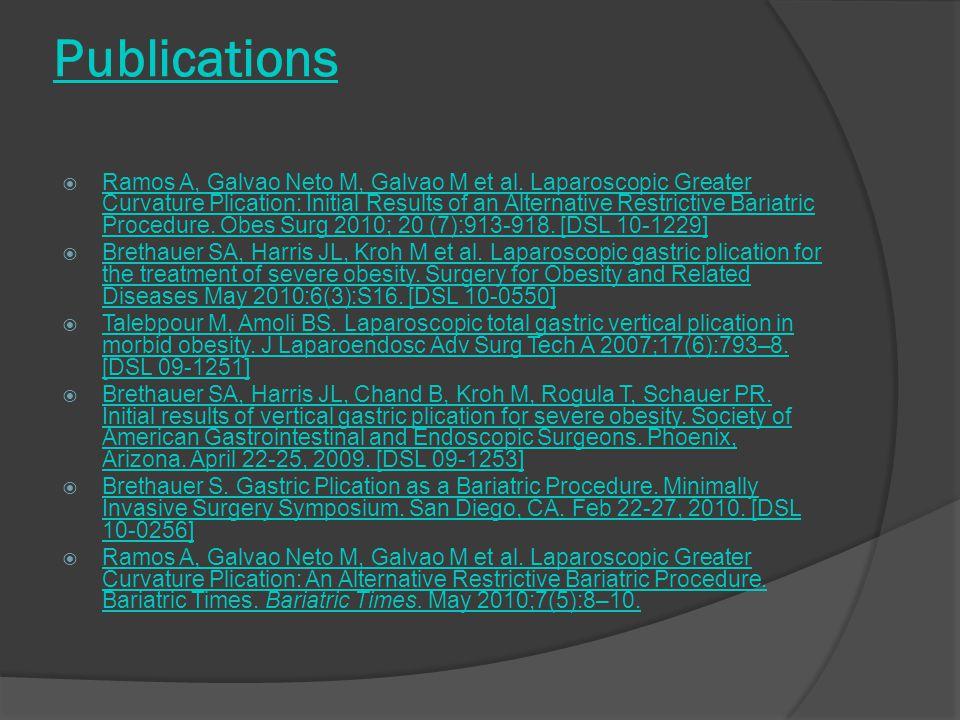 Publications  Ramos A, Galvao Neto M, Galvao M et al.