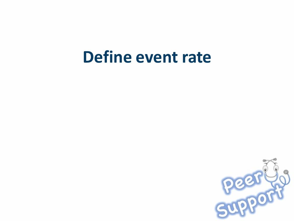 Define event rate