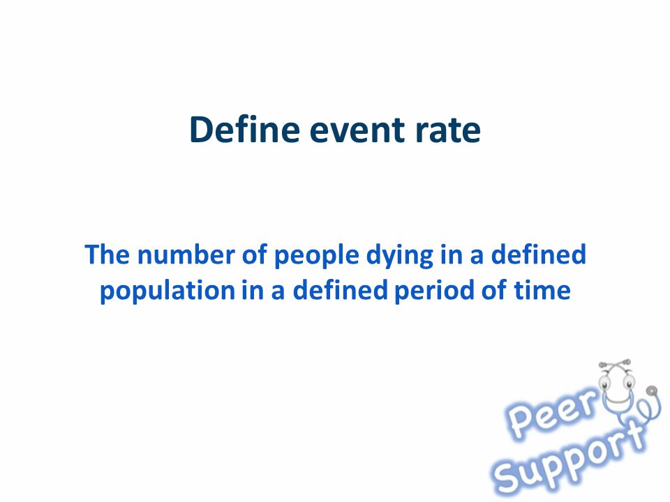 The number of people dying in a defined population in a defined period of time
