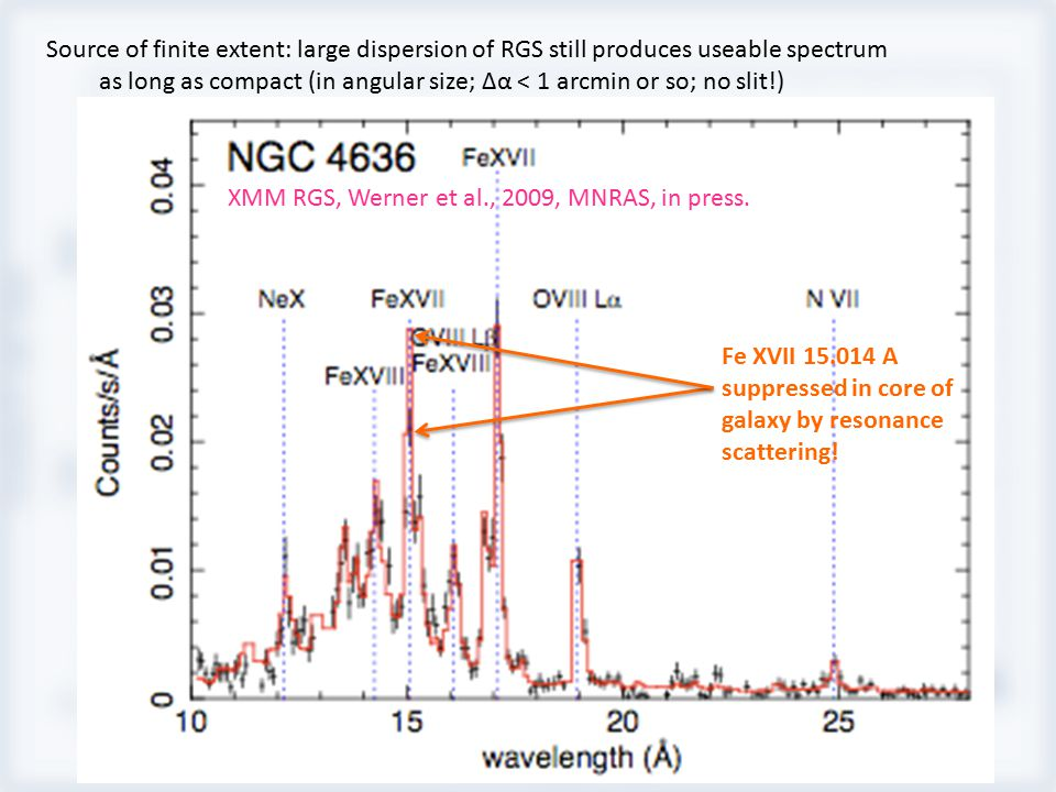 XMM RGS, Werner et al., 2009, MNRAS, in press.
