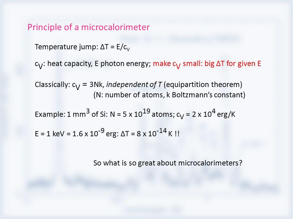 Quantum mechanics: At low T, harmonic oscillators go into ground state; c V collapses.