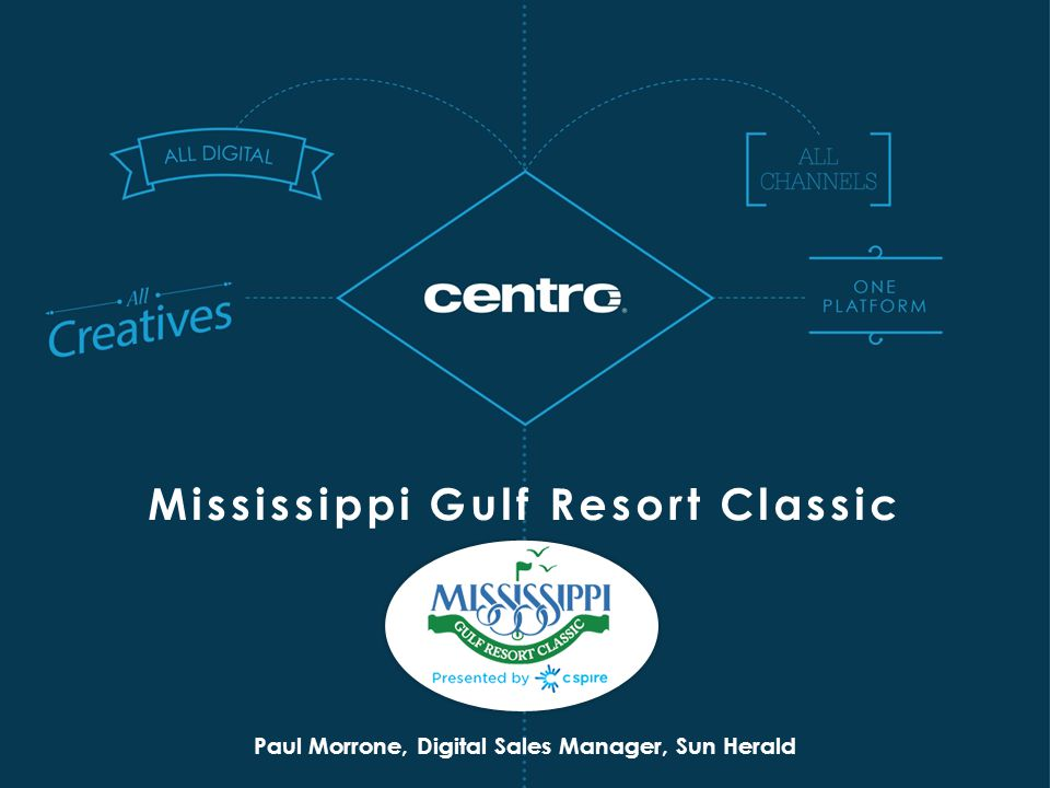 Paul Morrone, Digital Sales Manager, Sun Herald Mississippi Gulf Resort Classic
