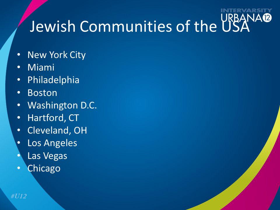 Jewish Communities of the USA New York City Miami Philadelphia Boston Washington D.C.