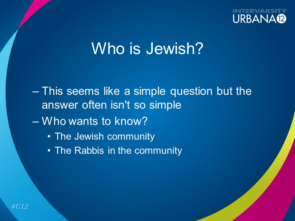 Who is Jewish.