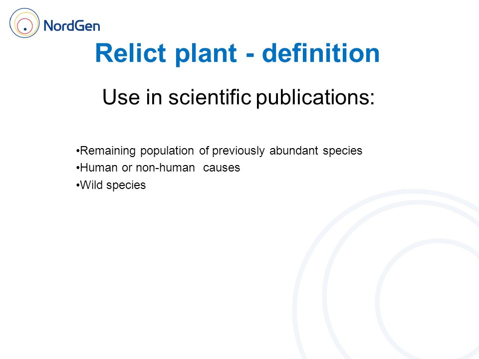 Relict plant - definition Survey of expert opinions: 35.
