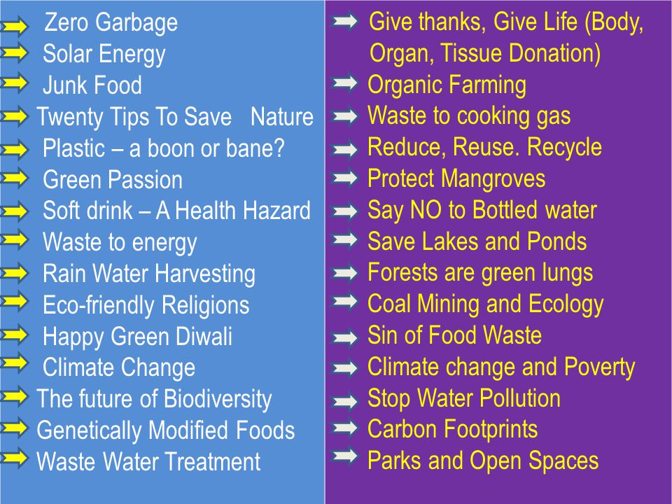 Zero Garbage Solar Energy Junk Food Twenty Tips To Save Nature Plastic – a boon or bane.