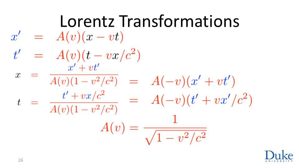 Lorentz Transformations 26