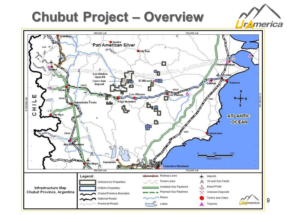 9 Chubut Project – Overview Chile Pan American Silver
