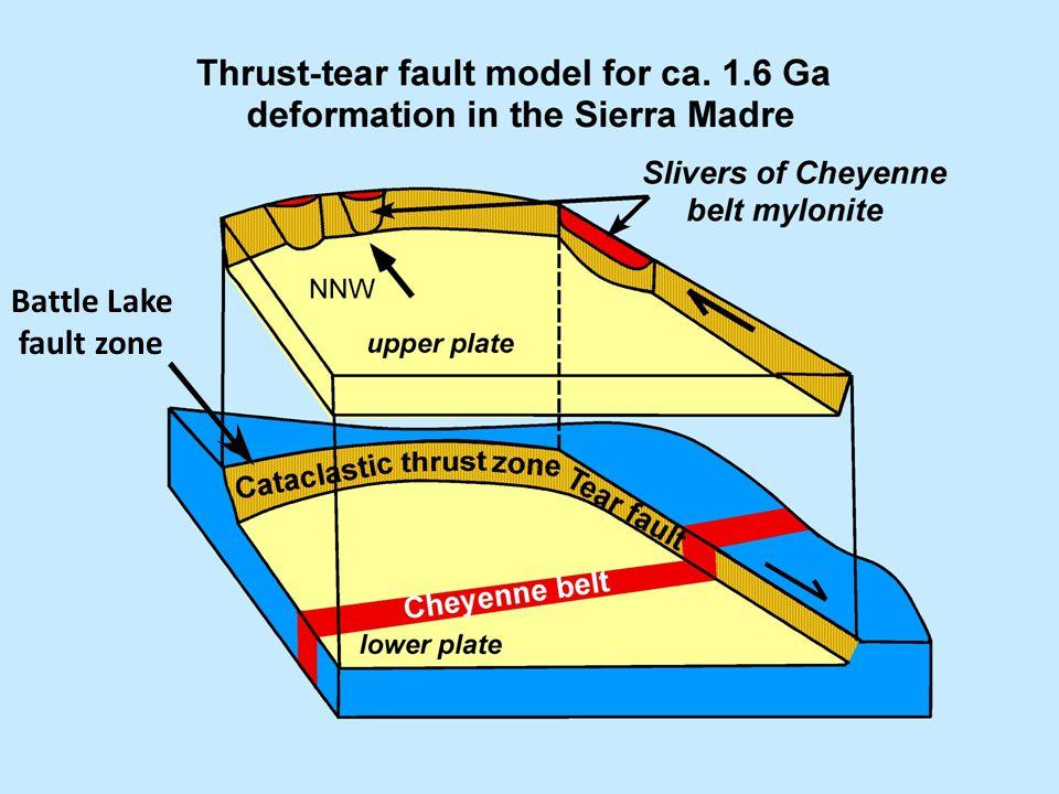 Battle Lake fault zone