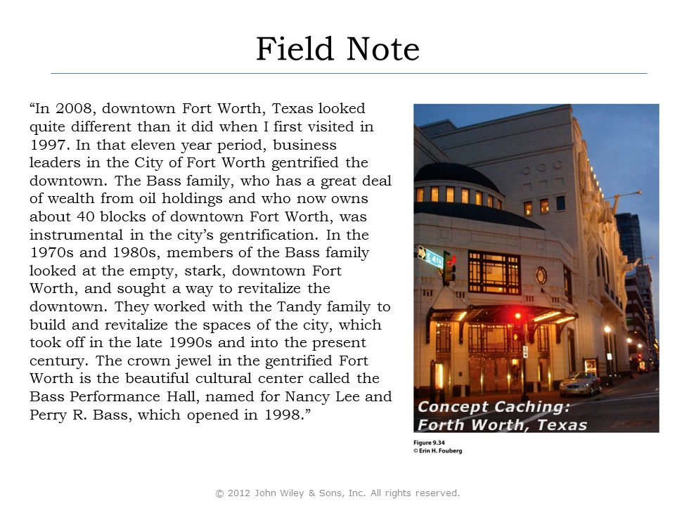 """Field Note """"In 2008, downtown Fort Worth, Texas looked quite different than it did when I first visited in 1997. In that eleven year period, business"""