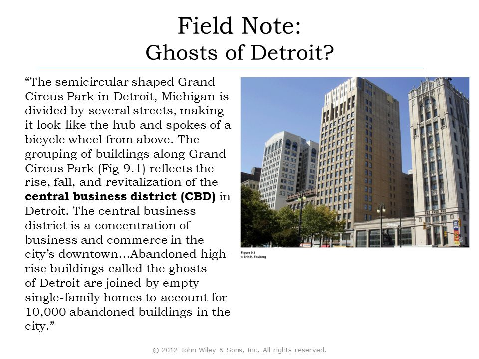 """Field Note: Ghosts of Detroit? """"The semicircular shaped Grand Circus Park in Detroit, Michigan is divided by several streets, making it look like the"""