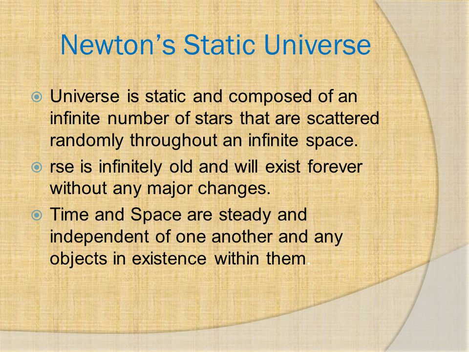 Newton's Error If universe is as how Newton describes, then why is the sky dark at night?