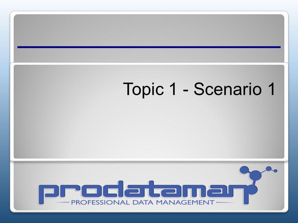 Topic 1 - Scenario 1