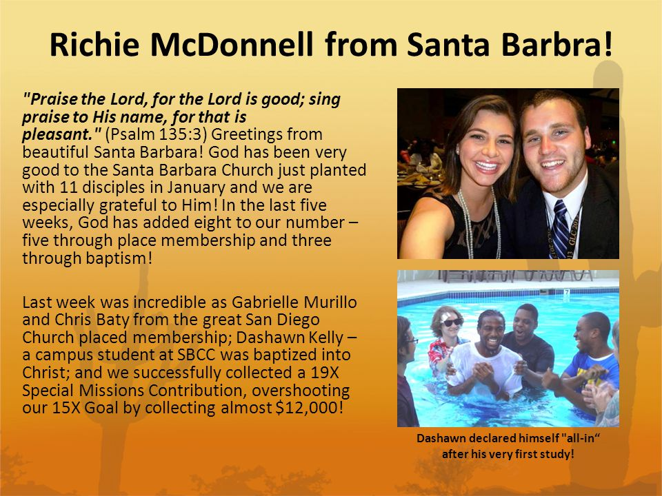 Richie McDonnell from Santa Barbra!