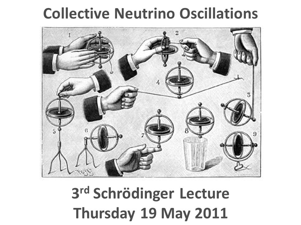 Georg Raffelt, MPI Physics, Munich 2 nd Schrödinger Lecture, University Vienna, 10 May 2011 Collective Neutrino Oscillations 3 rd Schrödinger Lecture Thursday 19 May 2011