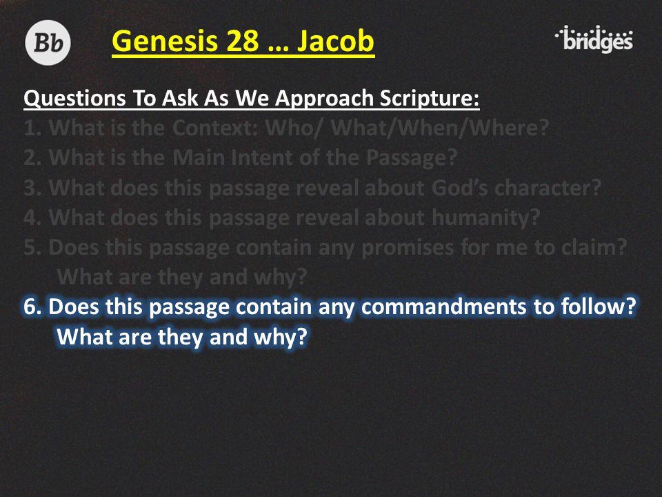 Genesis 28 … Jacob