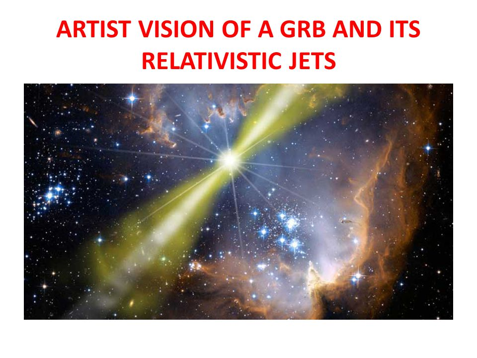 ARTIST VISION OF A GRB AND ITS RELATIVISTIC JETS