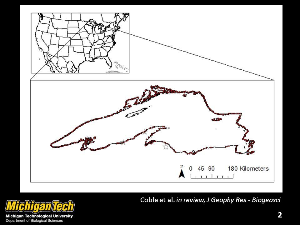 2 Coble et al. in review, J Geophy Res - Biogeosci