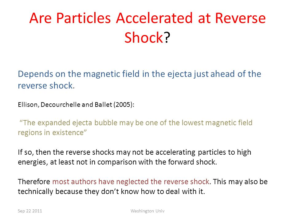 Are Particles Accelerated at Reverse Shock.