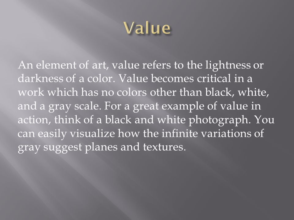 Gray Scale or Value Scale Stepped grades of value gray scale - The range of neutral values, or shades of gray in an image.
