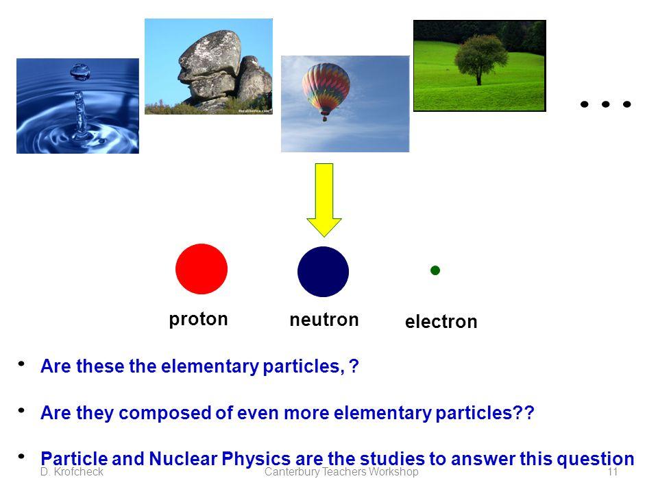 ... proton neutron electron Are these the elementary particles, .