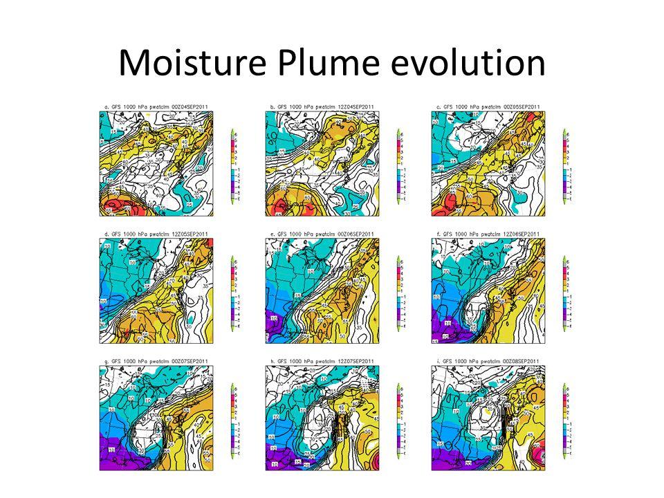 Moisture Plume evolution