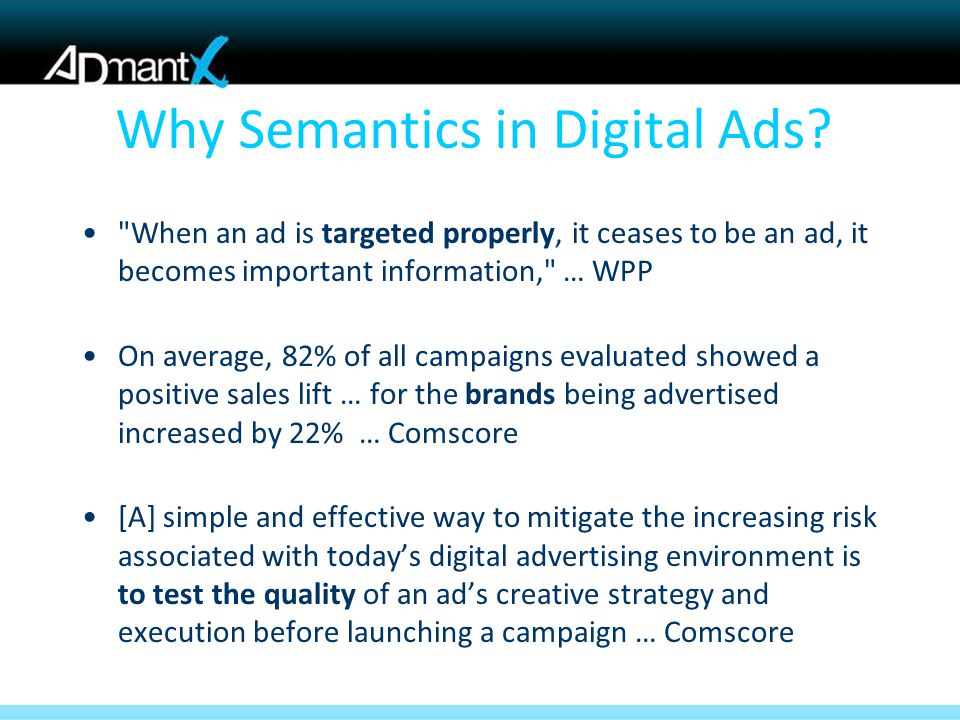 Why Semantics in Digital Ads.
