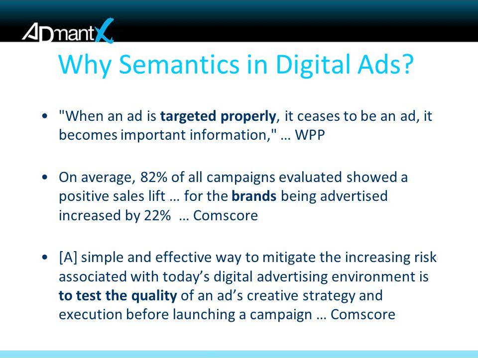 Why Semantics in Digital Ads?