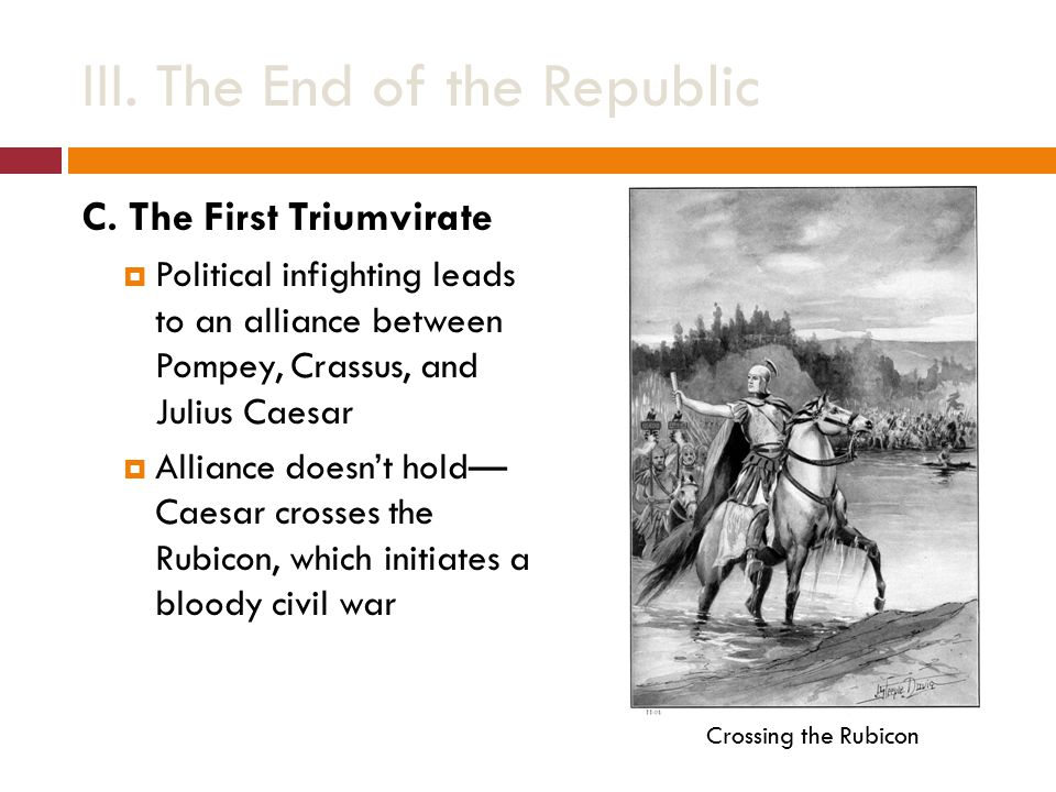 III. The End of the Republic C.