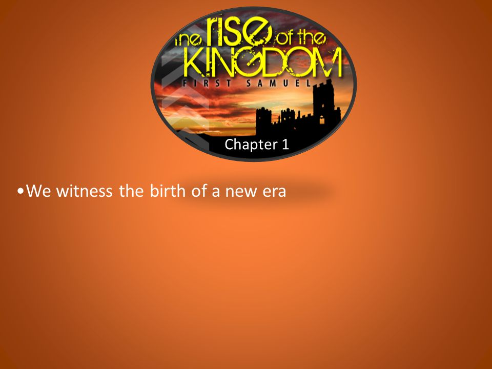 Chapters 9-10 We are introduced to Saul with an impressive genealogy God uses Kish's donkeys to initiate the activity
