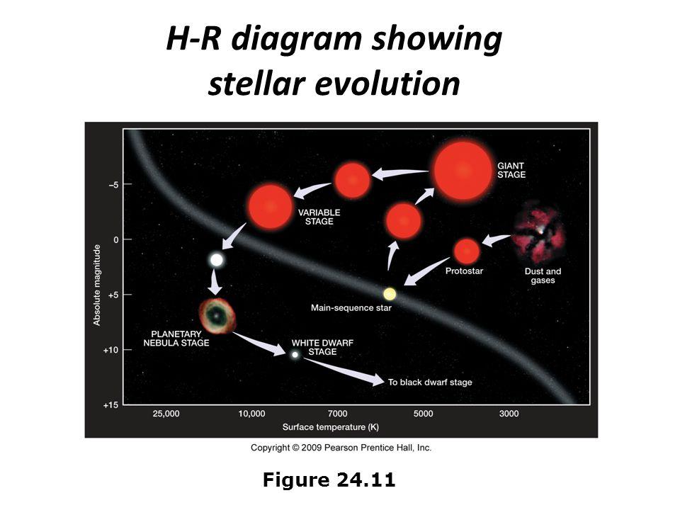 H-R diagram showing stellar evolution Figure 24.11