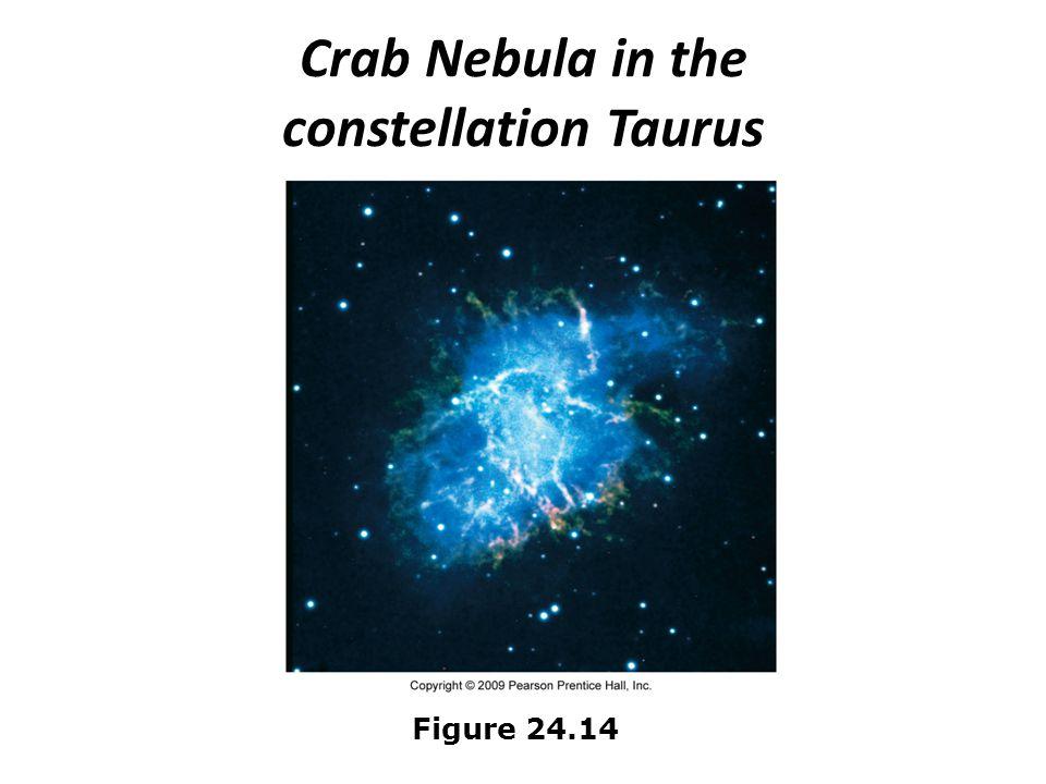 Crab Nebula in the constellation Taurus Figure 24.14