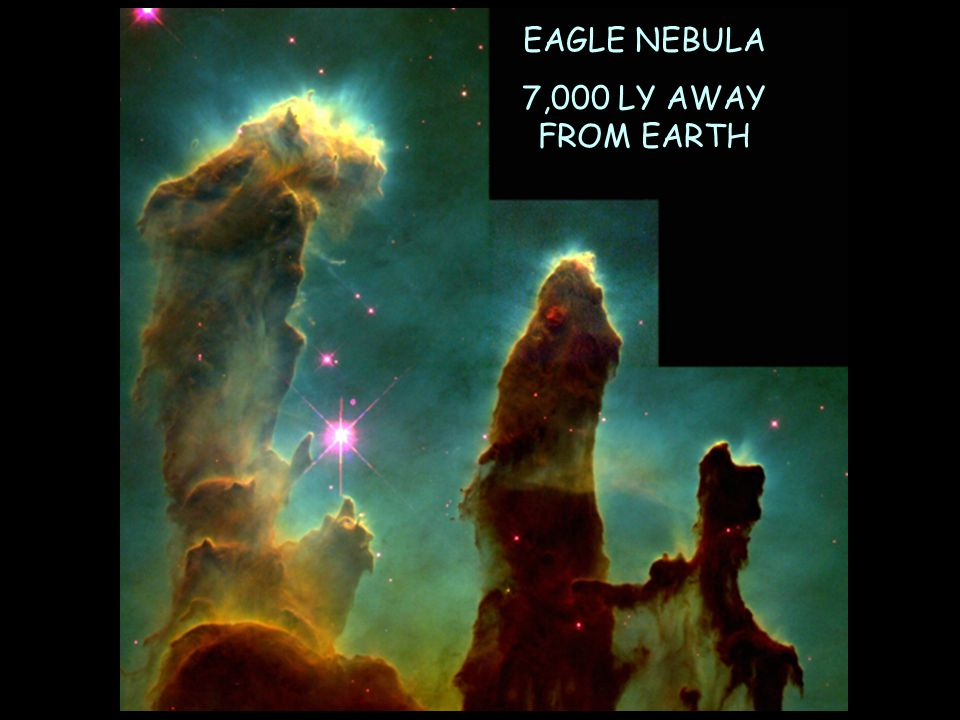 EAGLE NEBULA 7,000 LY AWAY FROM EARTH