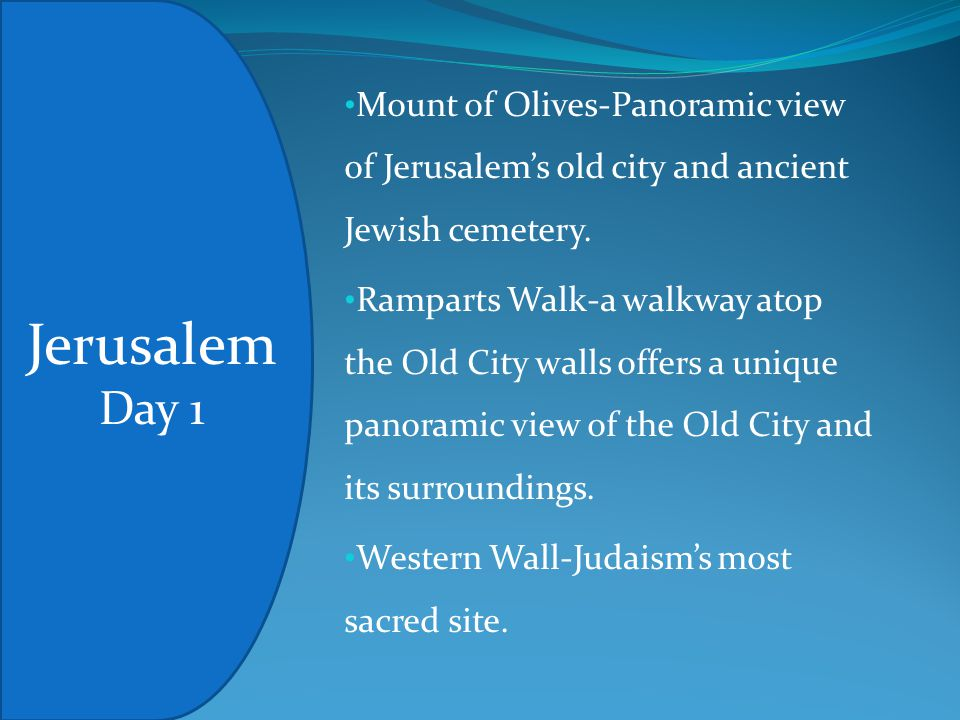 Mount of Olives-Panoramic view of Jerusalem's old city and ancient Jewish cemetery.