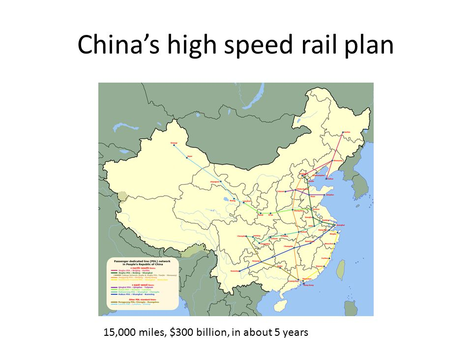 China's high speed rail plan 15,000 miles, $300 billion, in about 5 years