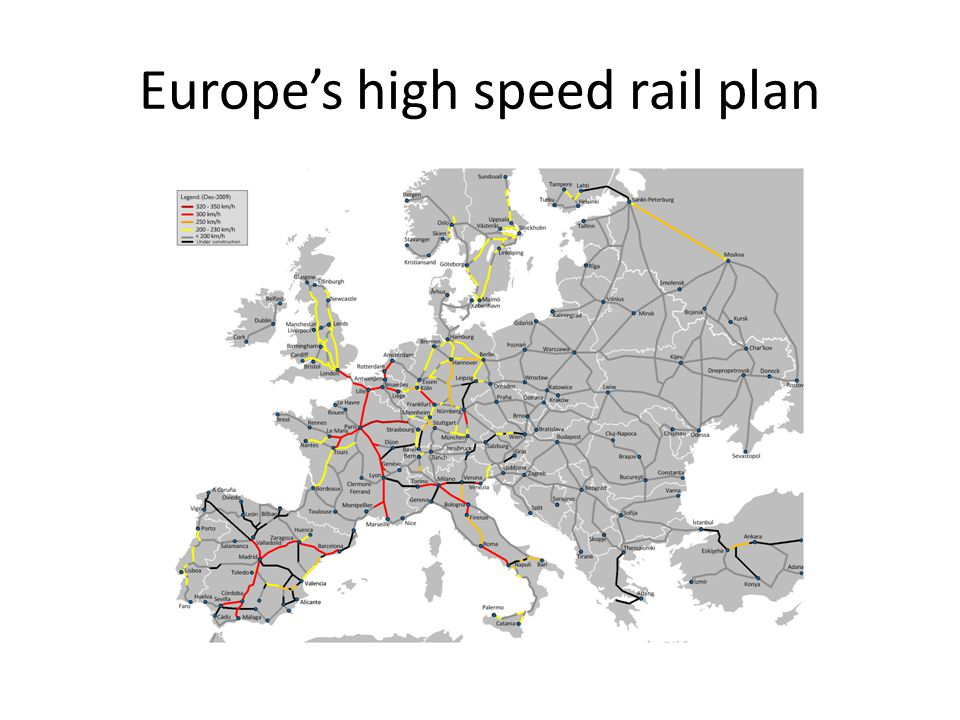 Europe's high speed rail plan