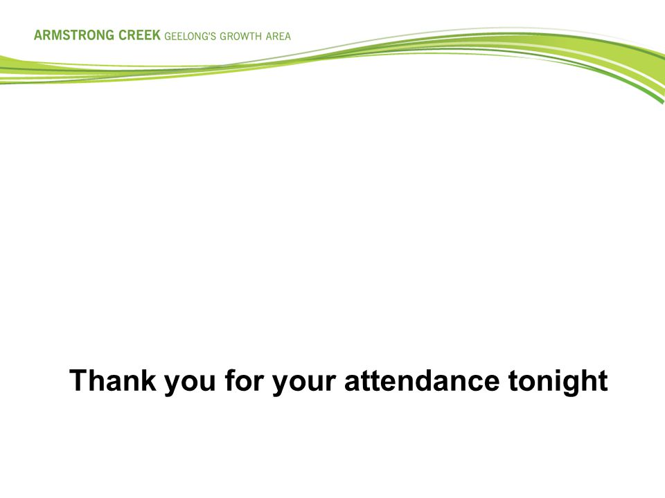 Thank you for your attendance tonight