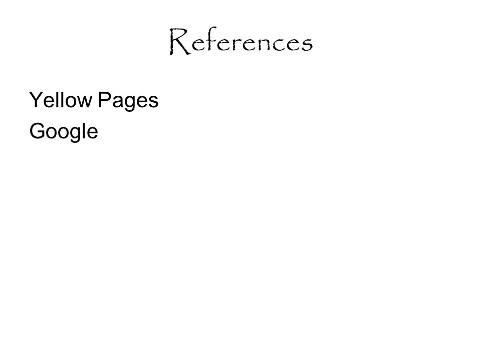 References Yellow Pages Google