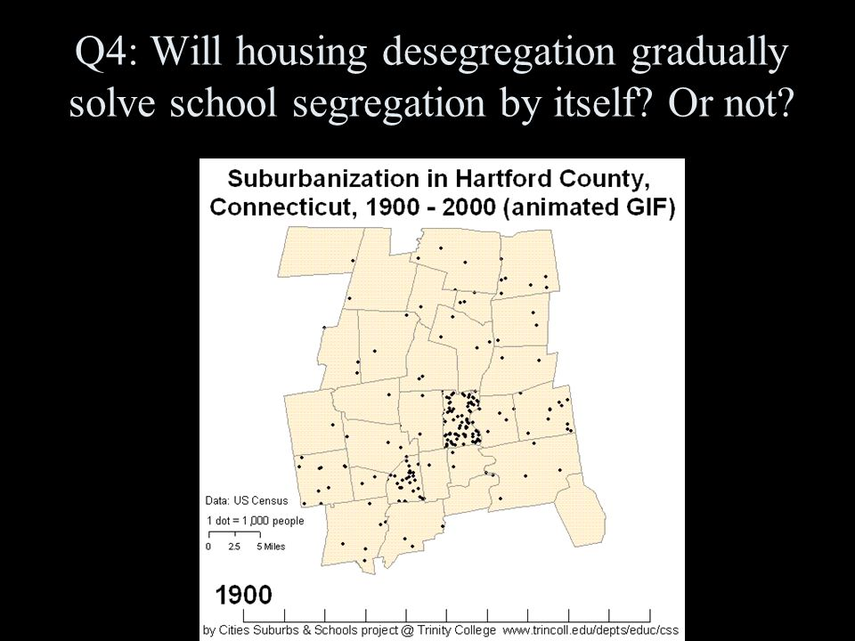 Q4: Will housing desegregation gradually solve school segregation by itself Or not