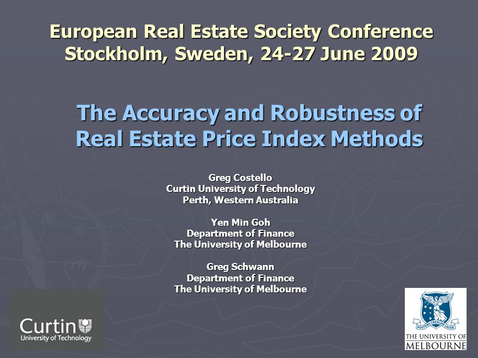 2 Research Question ► How accurate and robust are different house price index methods when subjected to finer levels of aggregation: 1.